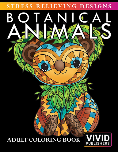 Botanical Animals: Stress Relieving Designs - E-Book / PDF format