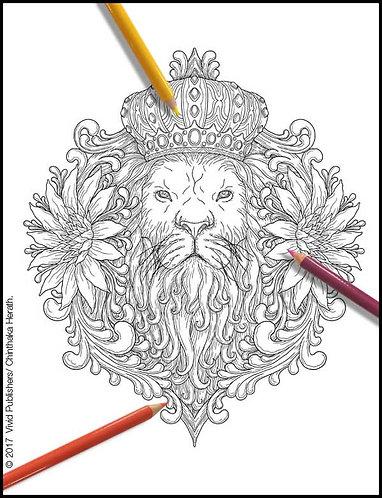 Lion Majestic - Single Page - PDF format