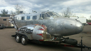 World War II Airplane Trailer is on the road!