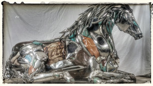 Most recently finished Chrome Horse in a Prone Position
