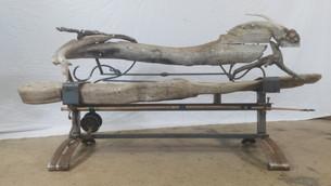 Custom Driftwood & Metal Bench