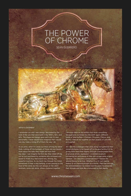 Chrome Horse Sculpture by Sean Guerrero