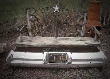Reclaimed Bench - Chrome and Wood