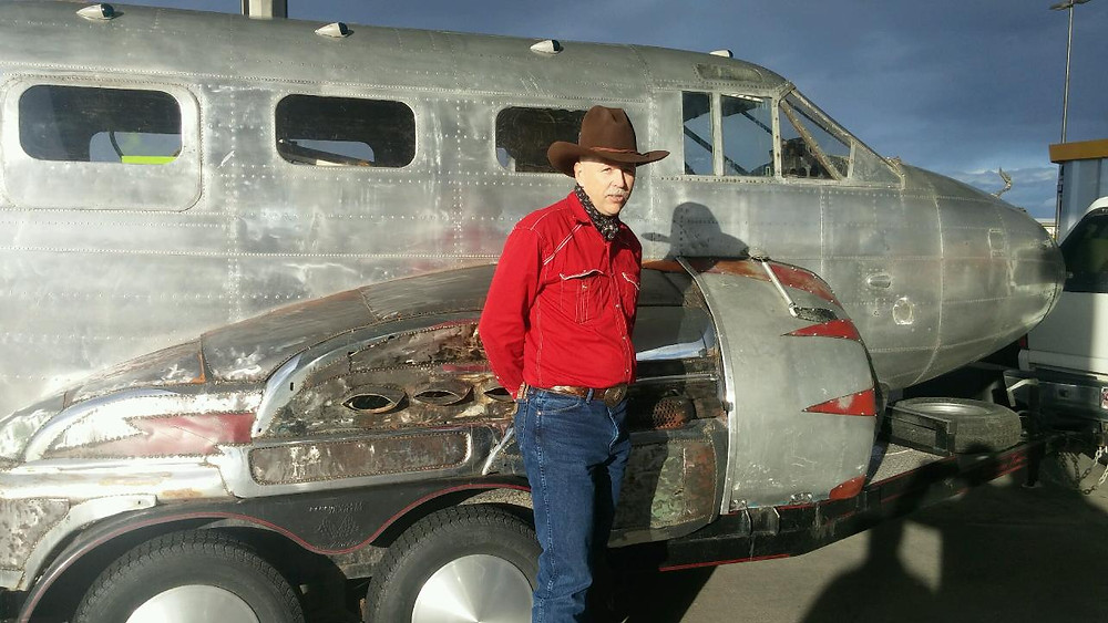Cowboys like this World War II Airplane Trailer in Colorado