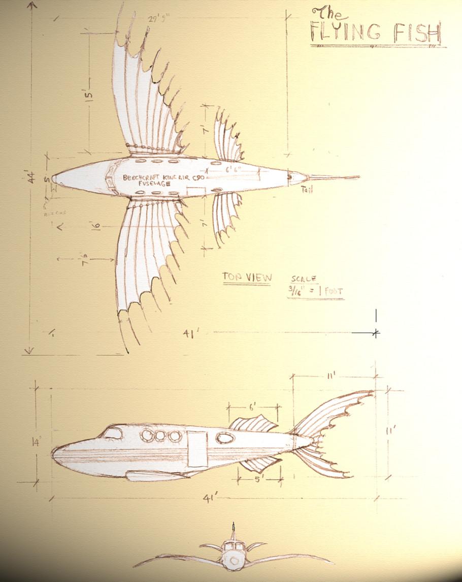 Da Vinci Fish at the Bombay Beach Biennale