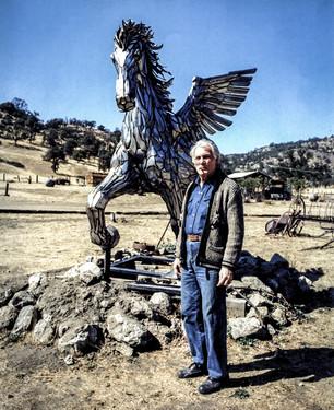 Chrome Pegasus Horse on Jack Palance's Ranch