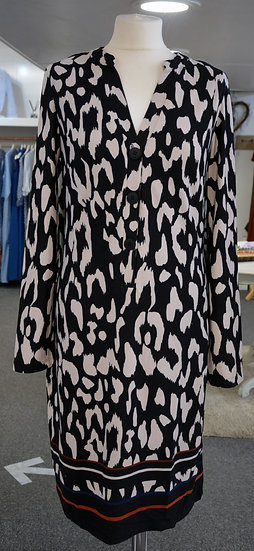 K-Design Black/Cream Animal Print Dress