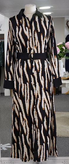 K-Design Black Zebra Print Maxi Dress