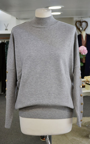 Rino & Pelle Grey High Neck Jumper