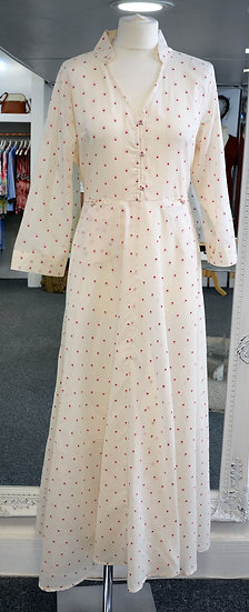 Dream Cream with Red Dotty Dress