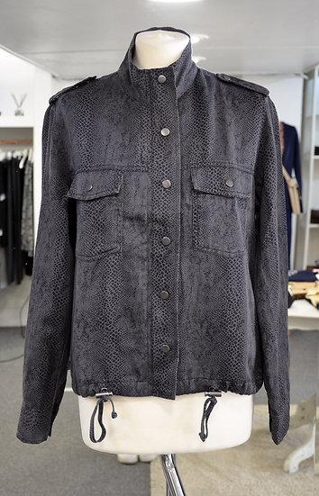 Rails Charcoal Snake Print Jacket