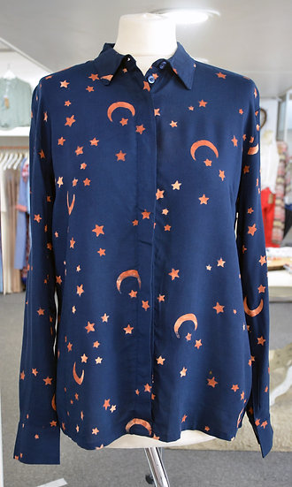 Sugarhill Brighton Navy Moon & Stars Batik Shirt