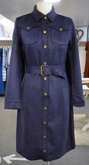 K-Design Navy Faux Suede Dress