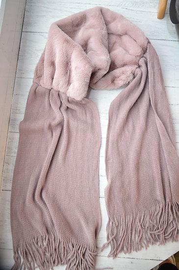 Rino & Pelle Pink Faux Fur Scarf