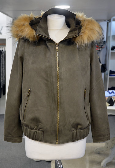 K-Design Khaki Suede Jacket