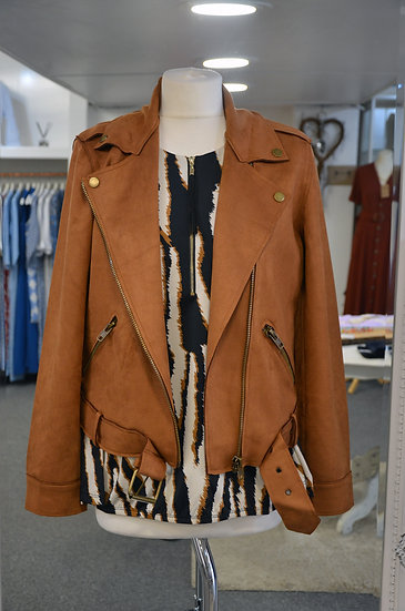 K-Design Faux Suede Tan Jacket