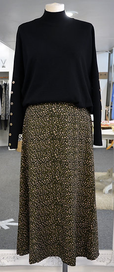 Luella Khaki Animal Print Maxi Skirt
