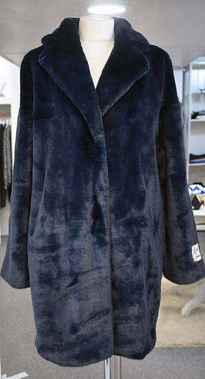 Rino & Pelle Navy Faux Fur Coat