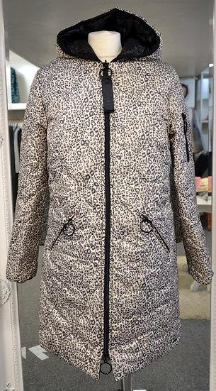 Rino & Pelle Leopard/Black Reversible Padded Coat