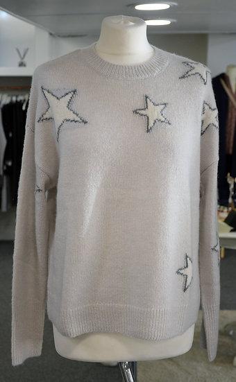 Rails Virgo Grey White Stars Cashmere Blend Jumper