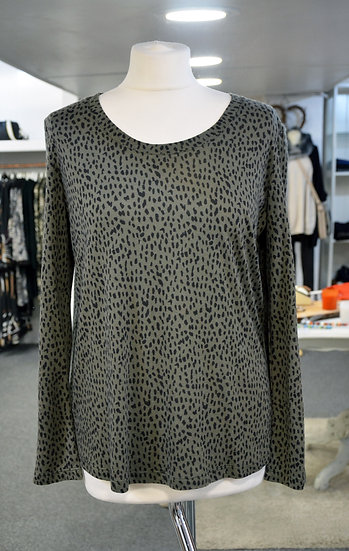 Rails -Colby - Olive Mini Spotted Long Sleeved Top
