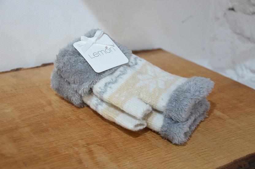 Lemon Collection Snowflake Fingerless Gloves