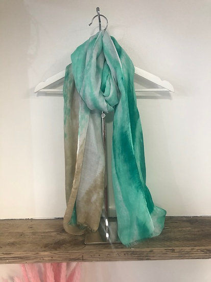 Turquoise & Grey Scarf