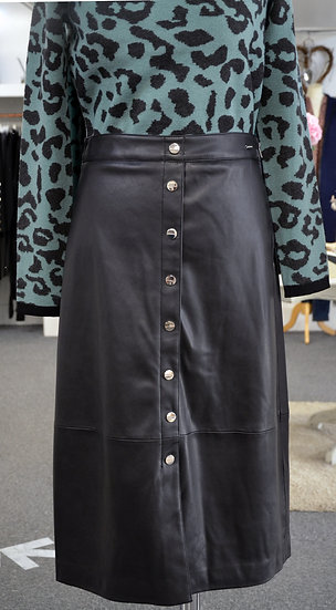 Rino & Pelle Black Faux Leather Skirt