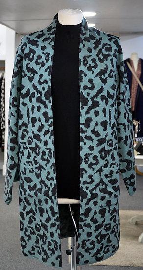 Rino & Pelle Mint Leopard Cardigan