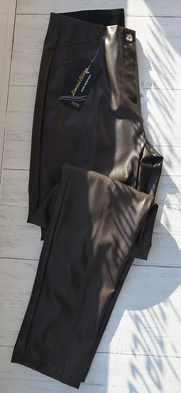 Anna Montana Brown Faux Leather Trousers