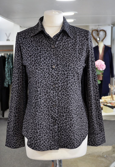 K-Design Grey Leopard Print Blouse