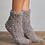 Thumbnail: Lemon Collection Fluffy Brown Socks