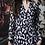 Thumbnail: K-Design Black/Cream Animal Print Dress