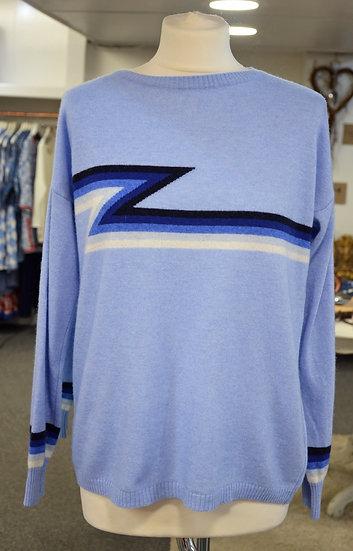 Luella Cashmere Blue Ziggy Jumper
