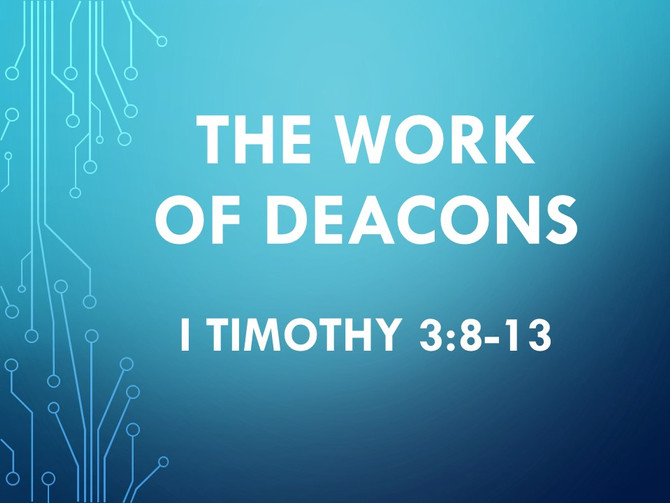 The Work of Deacons