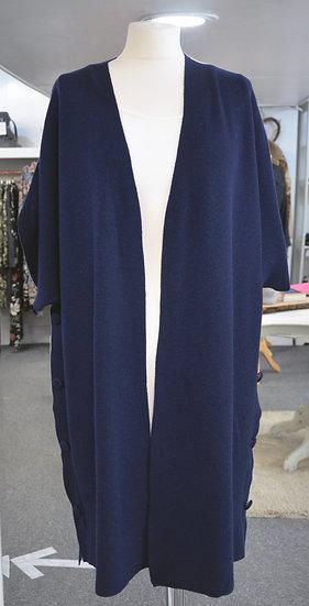 Navy Short Sleeved Cardigan