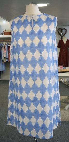 Dream Blue & White Pattern Tunic