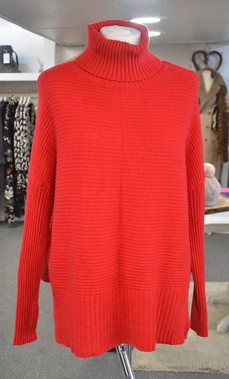 Ribbed Roll Neck Jumper - 3 Colours Available