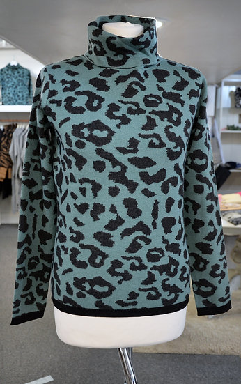 Rino & Pelle Mint Leopard Print Jumper