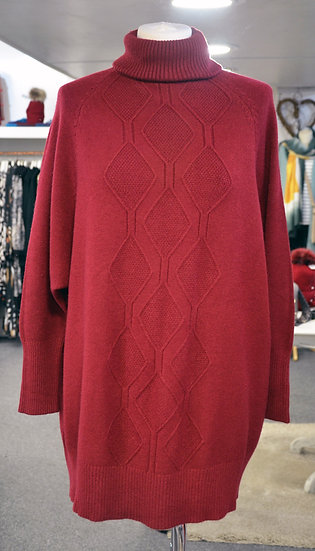 Longline High Neck Detail Front Jumper - 3 Colours Available