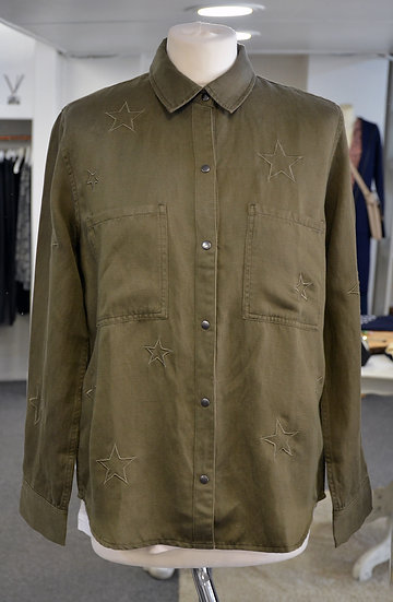 Rails Marcel Olive Embroidered Stars Shirt Jacket