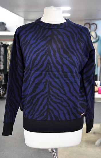 Rino & Pelle Black/Blue Zebra Jumper