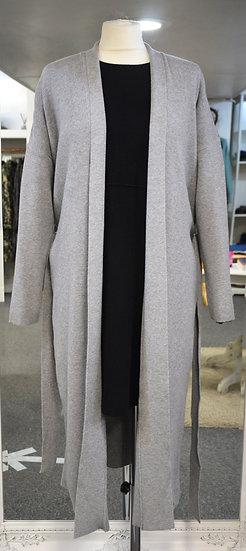 Rino & Pelle Grey Belted Long Cardigan