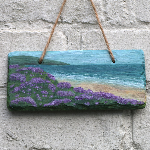 Heather Look Hand Painted Rectangle (18x8cm)