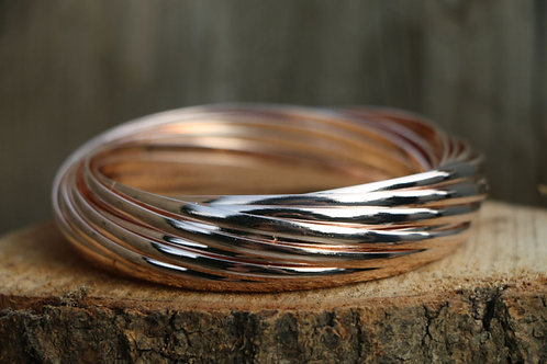 Multiple Bangle - Rose Gold