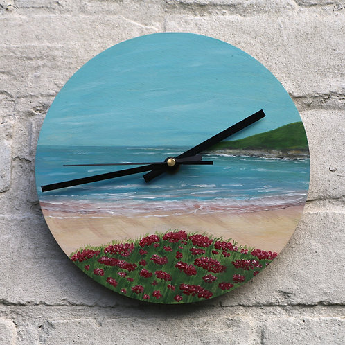 Hand Painted Driftwood Cove Clock