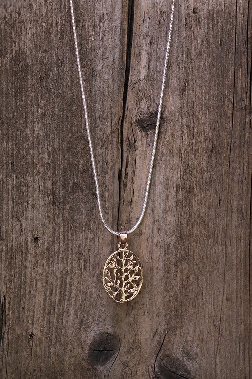 Oval Filigree Tree Necklace