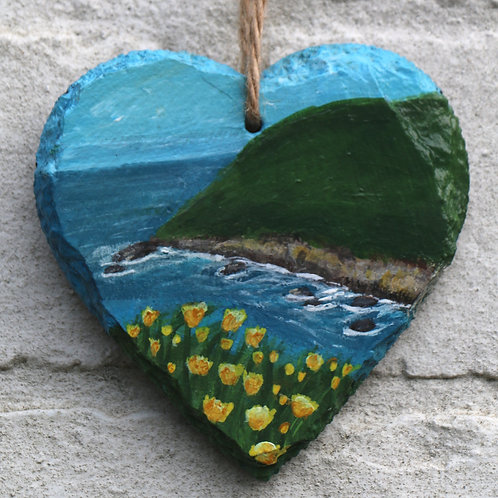 End Point Cove Hand Painted Heart (10cm)