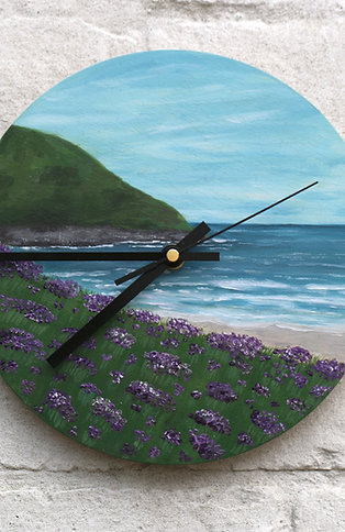 Hand Painted Heather Coast Clock