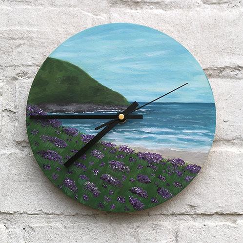 Hand Painted Heather Coast Clock